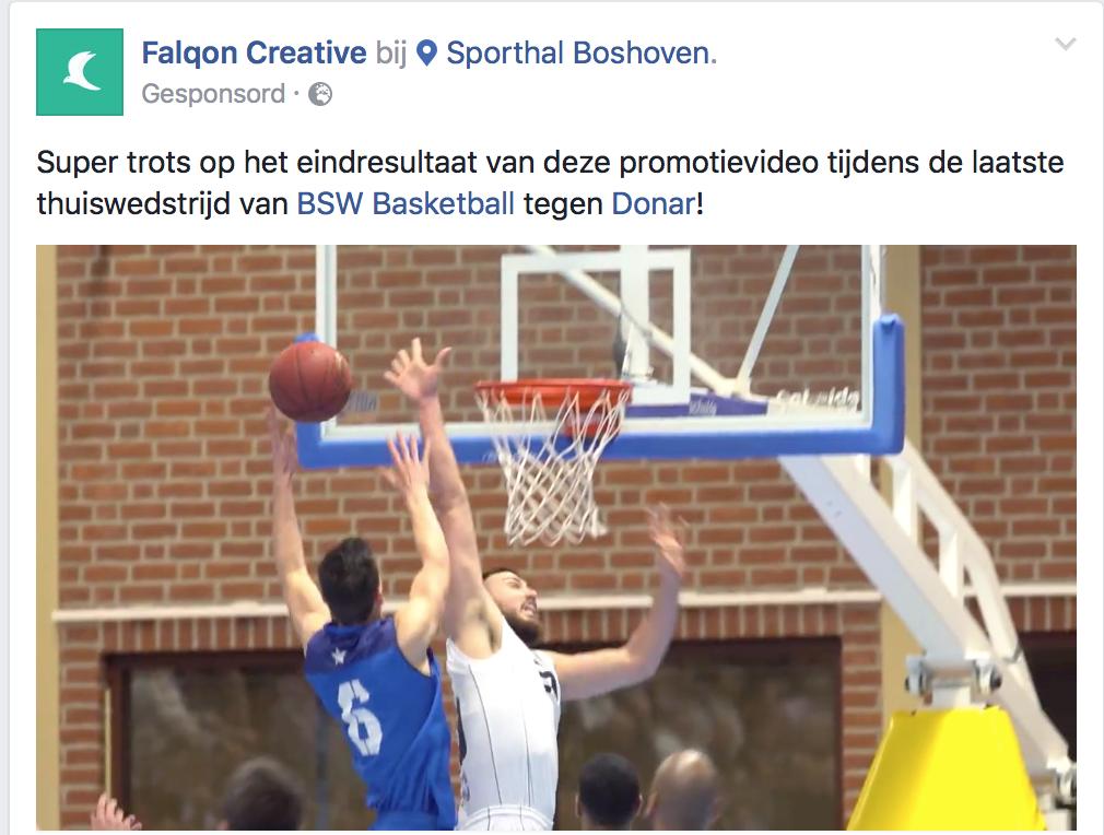 Sponsored Ad Falqon - Native advertising